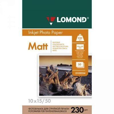 Fotopapier, matný, 230g, 10x15 cm, 50 ks (Lomond) 0102034