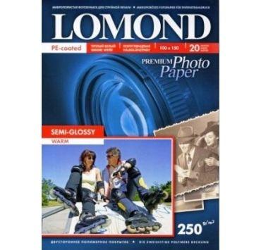 Fotopapier Lomond Premium, pololesklý, 250 g/m2, 10x15, 20 hárkov, Warm, (1103305)