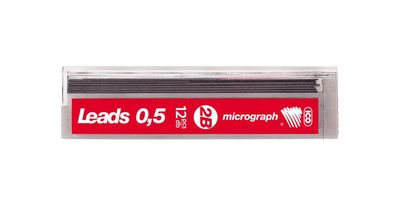 "Grafitová tuha, 0,5 mm, 2B, ICO ""Micrograph"""