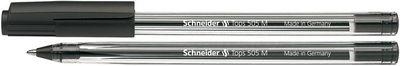 """Guličkové pero, 0,5 mm, s uzáverom, SCHNEIDER """"Tops 505 M"""", čierne"""