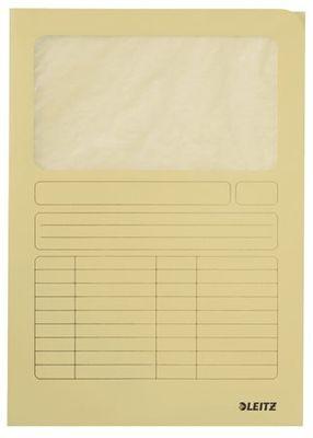 Kartónová doska, s okienkom, A4, LEITZ, žltá