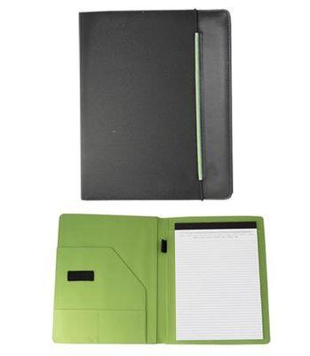 Konferenčná doska, A4, tkanina, čiena-zeleá