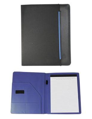 Konferenčná doska, A4, tkanina, čierna-modrá