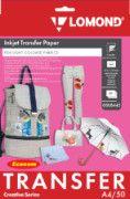 Nažehľovací papier Lomond pre atramentovú tlač, A4, 50 hárkov, pre svetlý textil Economy