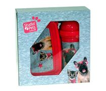 Paso - Rachael Hale,Set Fľaša na pitie + Box na desiatu MY LITTLE Friend Dog and Cat