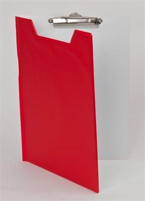 Podložka na písanie, s príklopom, A4, PANTAPLAST, červená-biela