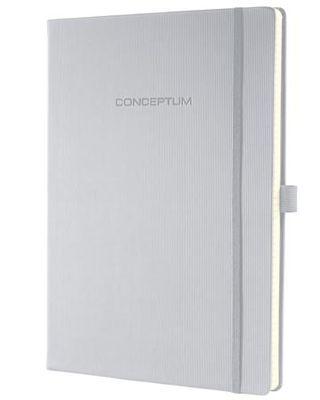 """Poznámkový blok, exkluzívny, A4, linajkový, 194 strán, tvrdá obálka, SIGEL """"Conceptum"""", sivý"""