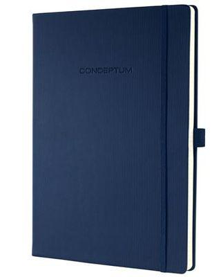 """Poznámkový blok, exkluzívny, A4, štvorčekový, 194 strán, tvrdá obálka, SIGEL """"Conceptum"""", modrý"""