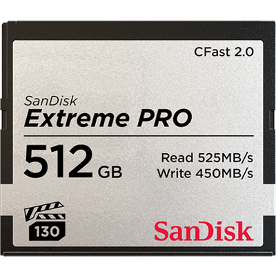 SanDisk Extreme Pro CFAST 512GB 525MB/s