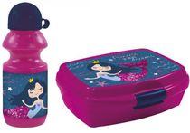 Set Fľaša na pitie + Box na desiatu :dizajnom morskej panny