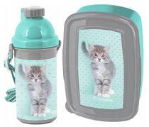Set Fľaša na pitie + Box na desiatu :My Little friend Cat