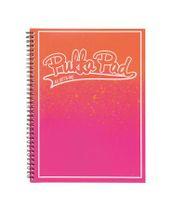 """Špirálový zošit, A4+, linajkový, 100 listov, PUKKA PAD, """"Bright"""", oranžový-ružový"""