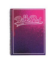 """Špirálový zošit, A4+, linajkový, 100 listov, PUKKA PAD, """"Bright"""", ružový-fialový"""