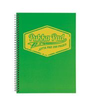 """Špirálový zošit, A4, linajkový, 100 listov, PUKKA PAD """"Jotta Neon"""", zelený"""