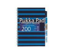 """Špirálový zošit, A4, linajkový, 100 listov, PUKKA PAD, """"Navy project book"""", modrý"""