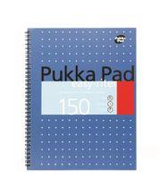 """Špirálový zošit, A4, linajkový, 75 listov, PUKKA PAD, """"Neon project book"""", modrý"""