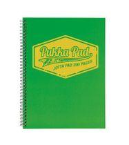 """Špirálový zošit, A4, štvorčekový, 100 listov, PUKKA PAD """"Jotta Neon"""", zelený"""