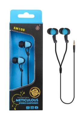 Sluchátka stereo PLUS EM108 modrá