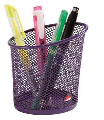 Stojan na písacie potreby, drôtený, ALBA, fialový