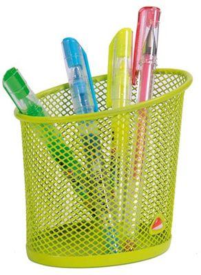 Stojan na písacie potreby, drôtený, ALBA, zelený