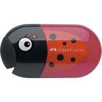 Strúhadlo a guma, 2 otvory, s nádobkou, FABER-CASTELL, motív: lienka