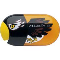 Strúhadlo a guma, 2 otvory, s nádobkou, FABER-CASTELL, motív: orol