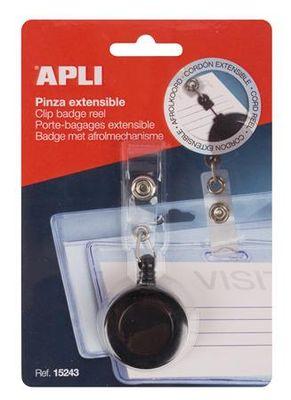 Vysačka s karabínovým štipcom, APLI, čierna