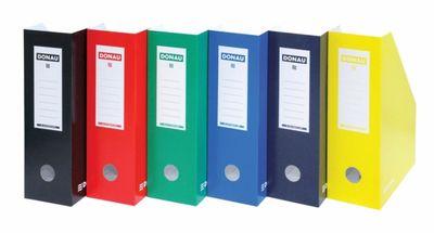 Zakladač, kartónový, 100 mm, DONAU, modrý