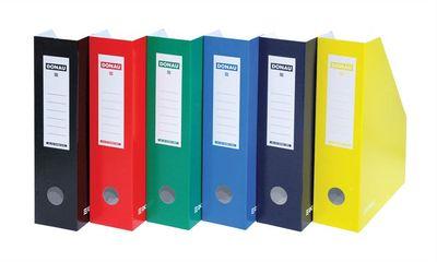 Zakladač, kartónový, 80 mm, DONAU, modrý