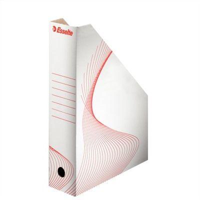 """Zakladač, kartónový, 80 mm, skladateľlný, ESSELTE """"Standard"""", biely"""