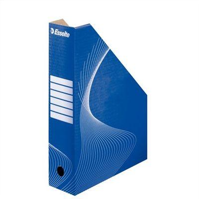 """Zakladač, kartónový, 80 mm, zložiteľný, ESSELTE """"Standard"""", modrý"""
