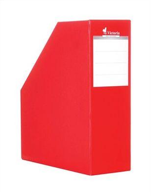 Zakladač, kartónový, 90 mm, VICTORIA, červený