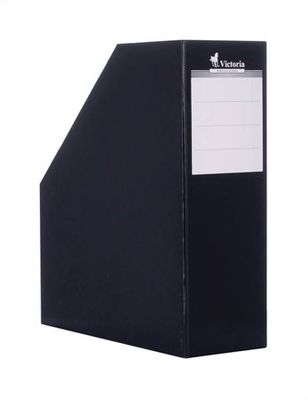 Zakladač, kartónový, 90 mm, VICTORIA, čierny