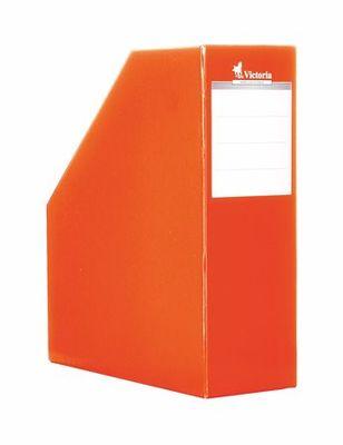 Zakladač, kartónový, 90 mm, VICTORIA, oranžový