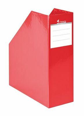 """Zakladač, kartónový, 90 mm, VICTORIA, """"Premium"""", červený"""