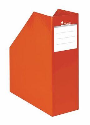 """Zakladač, kartónový, 90 mm, VICTORIA, """"Premium"""", oranžový"""