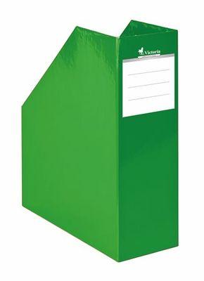 """Zakladač, kartónový, 90 mm, VICTORIA, """"Premium"""", zelený"""
