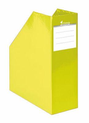 """Zakladač, kartónový, 90 mm, VICTORIA, """"Premium"""", žltý"""