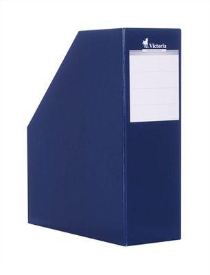 Zakladač, kartónový, 90 mm, VICTORIA, tmavomodrý
