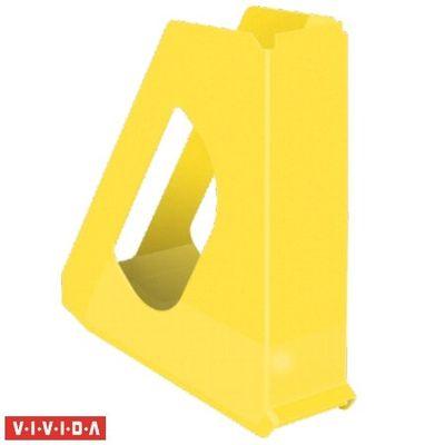 """Zakladač, plastový, 68 mm, ESSELTE """"Europost"""", Vivida žltý"""