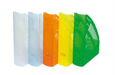 Zakladač, plastový, 70 mm, DONAU, priehľadný zelený