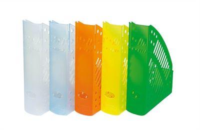 Zakladač, plastový, 70 mm, DONAU, priehľadný žltý