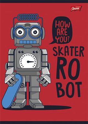 """Zošit, A5, štvorčekový, 32 listov, UNIPAP  """"Robot"""""""