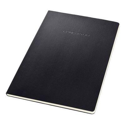 """Zošit, exkluzívny, A4, linajkový, 60 listov, tvrdá obálka, SIGEL """"Conceptum"""", čierny"""