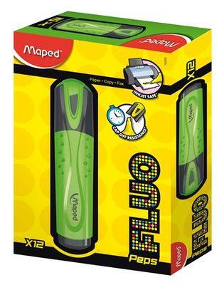 """Zvýrazňovač, 1-5 mm, MAPED """"Fluo Peps Classic"""", zelený"""